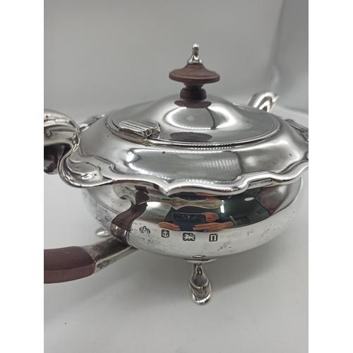 6 - George II Elkington & Co Birmingham 1937 Hallmarked Silver Teapot 526 Grams
