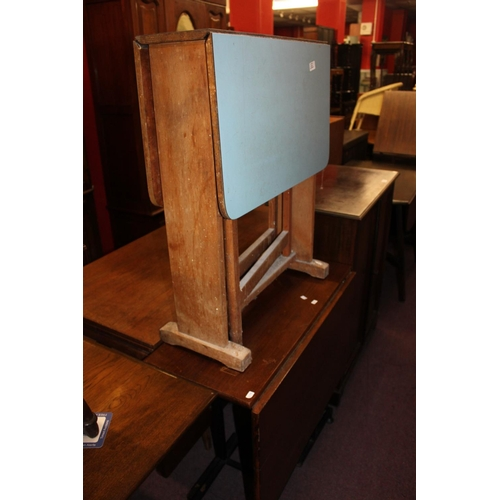 48 - 1x 1960's melamine small gate leg table...