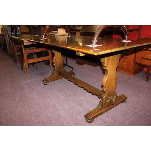 49 - 1x large rectangle oak dining table...
