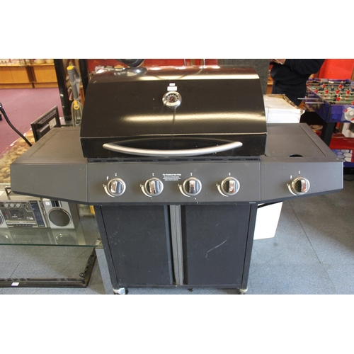 16 - 1 x large black gas powered bbq...