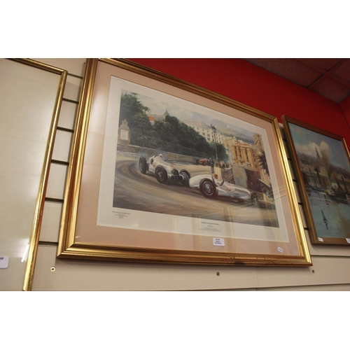 40 - 1 x theres only one winner monaco grand prix print by alan fearnley...
