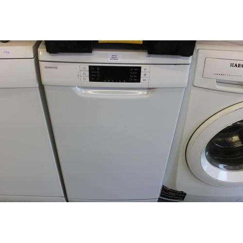 31 - 1 x kenwood 500mm white dishwasher...