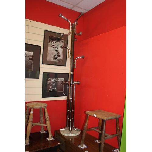 55 - 1 x vintage chrome coat stand...
