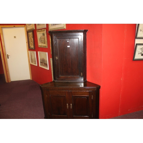 34 - 1 x Victorian corner cabinet with base...
