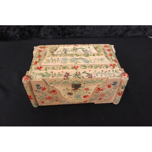 111 - 1 x hand painted jewellery box...