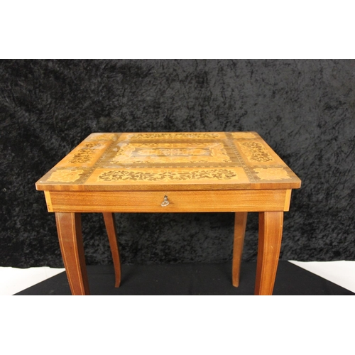 126 - 1 x small music box italian style sewing table...