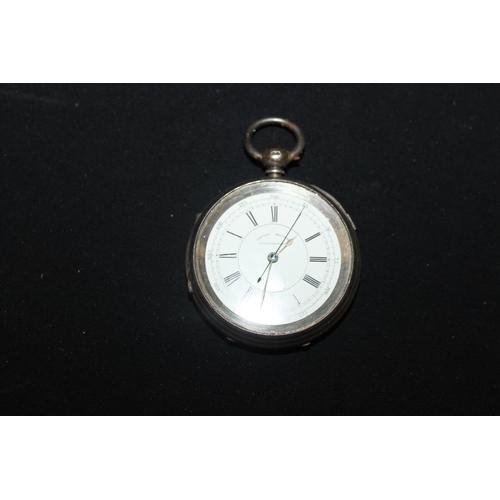 142 - 1 x silver centre seconds chronograph pocket watch...