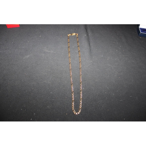 157 - 1 x 9ct gold flat curb link necklace...