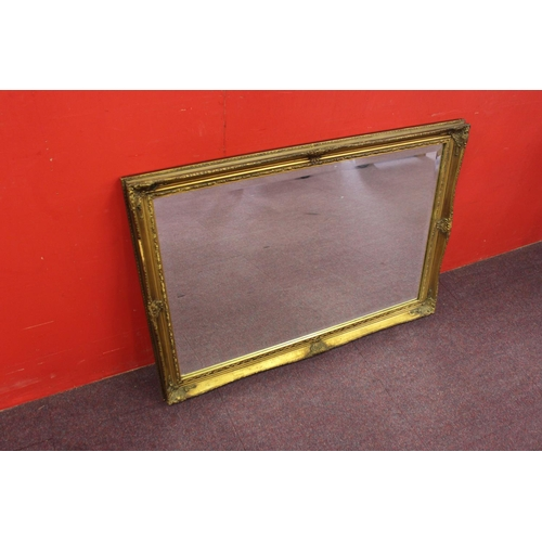 168 - 1 x gilt framed hall mirror with bevelled edge glass...