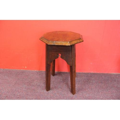 172 - 1 x oak hexagon side table...