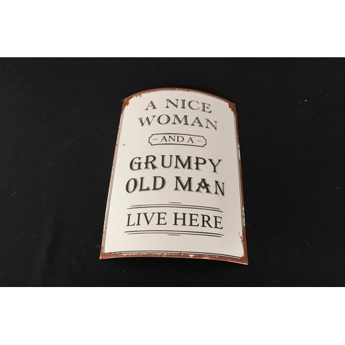 176 - 1 x a lovely woman and a grumpy old man live here sign...