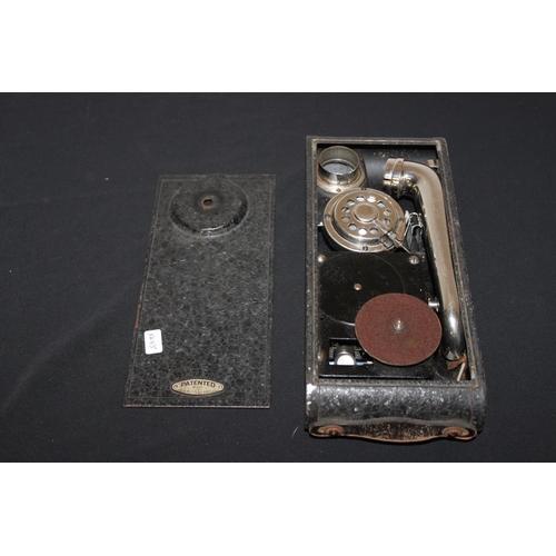 310 - 1 x Swiss made portable mini gramophone...