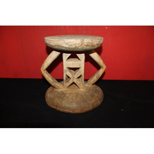 315 - 1 x carved detail African drum stool...
