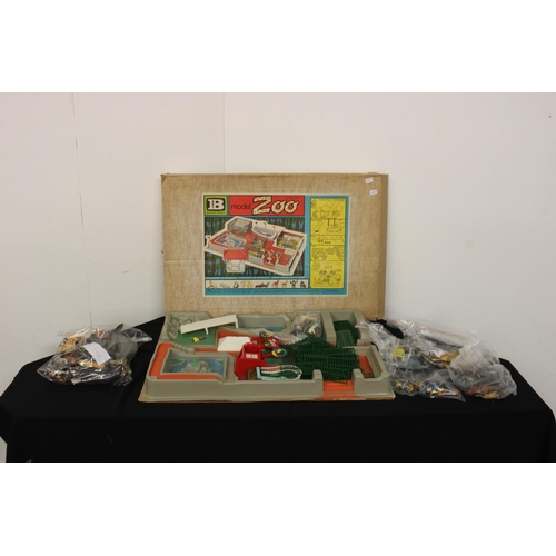 327 - C1960s Britain's zoo and large amount of Britain's animals inc full set of chimps tea party and zoo ...