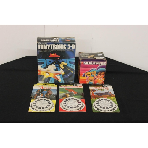 328 - 1 x tomytronic 3D game with 1 x view master and selection of films...