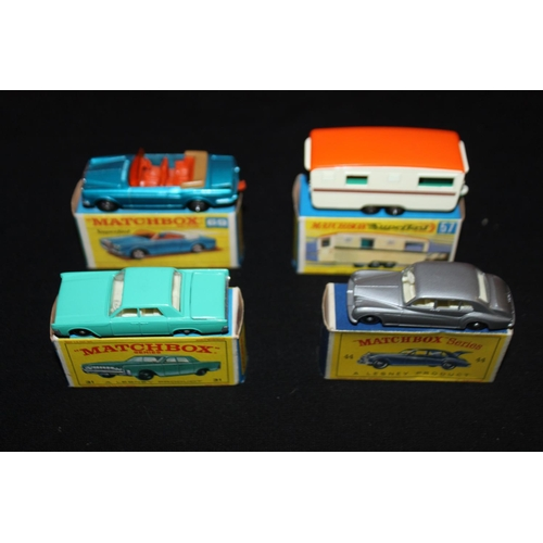 354 - 3 x Boxed matchbox cars And 1 boxed caravan condition both boxes and cars good...