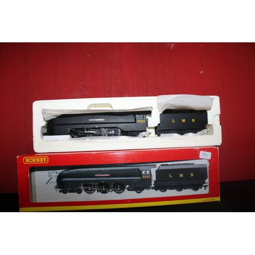 360 - Hornby 00 coronation class lms black city of Edinburgh new unrun...