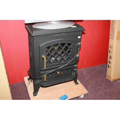 14 - 1 x warmland stoves electric cast heavy metal fire...