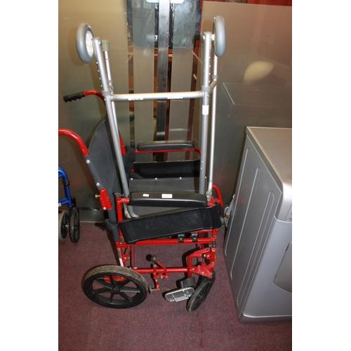 2 - 1 x ranger 2005 wheelchair with walking frame...