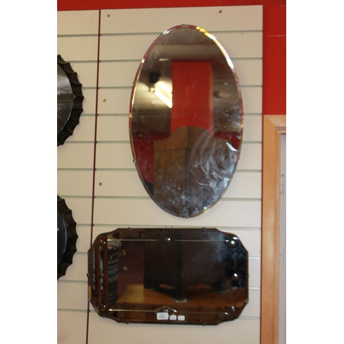 33 - 2 x 1960s wall mirrors...