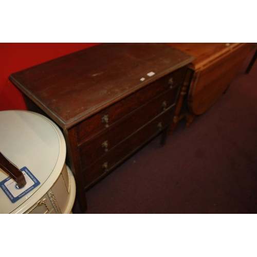 45 - 1 x 1950s 3 drawer oak chest of drawers...
