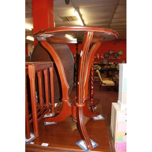56 - 1 x John e Doyle ltd glass top occasional table...