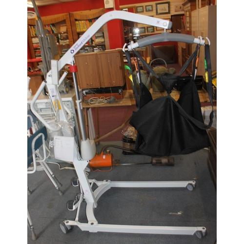 12 - 1 x joerns Oxford midi 180 battery operated disability hoist 2 x hoist slings in medium