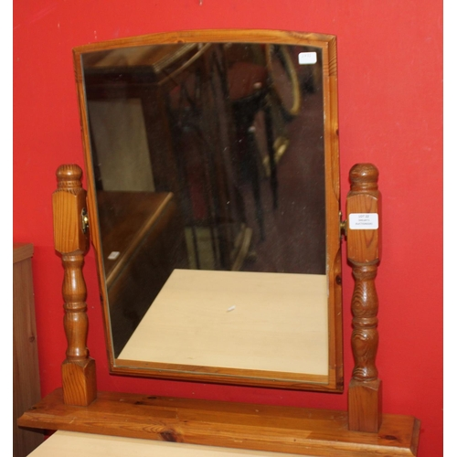 22 - 1x pine dressing table mirror