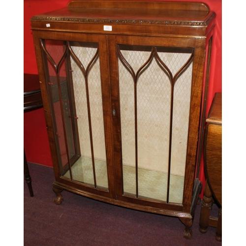 25 - 1 x mahogany 1950s china display cabinet