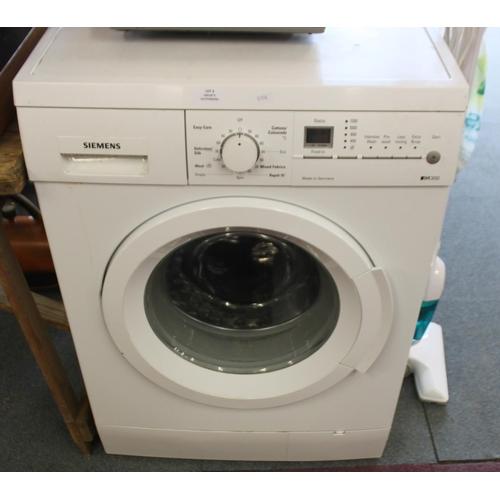 3 - 1 x white Siemens iq300 washing machine