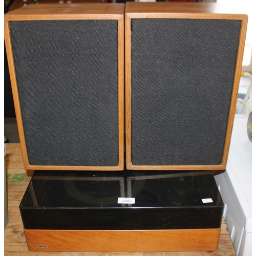 4 - 1 x lenco gl85 record player with pair of speakers