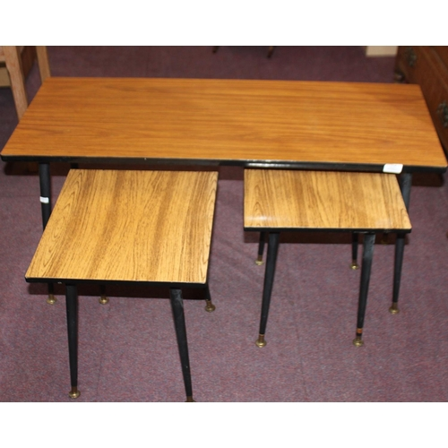 43 - 1 x nest of 3 1960s tables