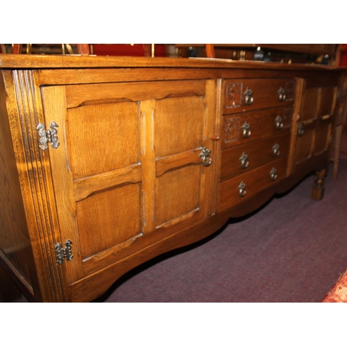 47 - 1 x Stanley wood of otley carved detail side board unit