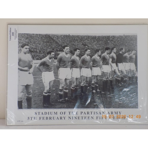 29 - Bayern Munich Stadium of the Partisan Army 5th Feb 1958 Poster Limited Edition Number 1599 of 1958. ...