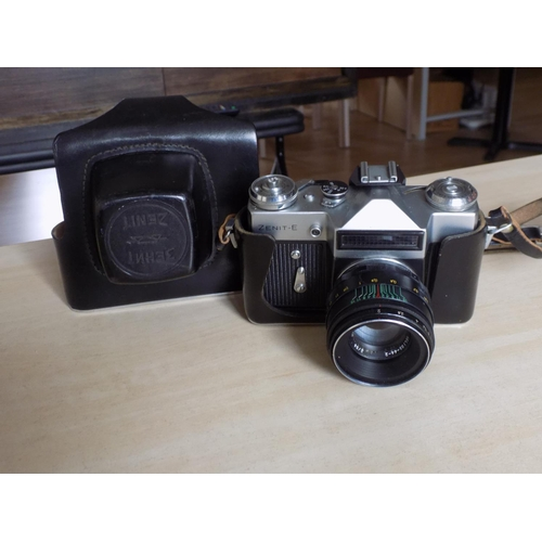 34 - Zenit-E Vintage Camera and Case...