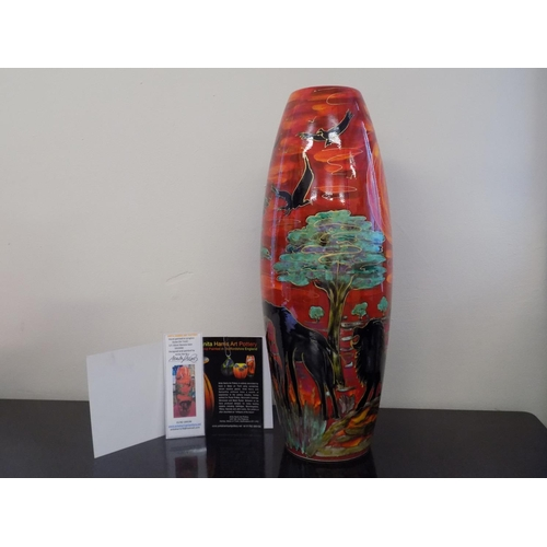 35 - Anita Harris Limited Edition 50cm 'Savana Sky' Vase 1/1. Designed and Painted by Anita Harris. With ...