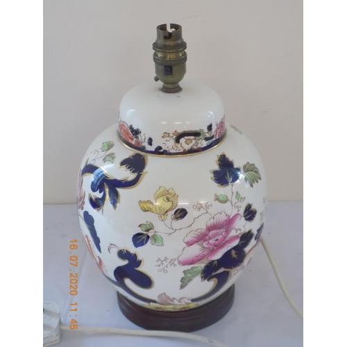 43 - Masons Blue Mandalay Large Ginger Jar Lamp Base...
