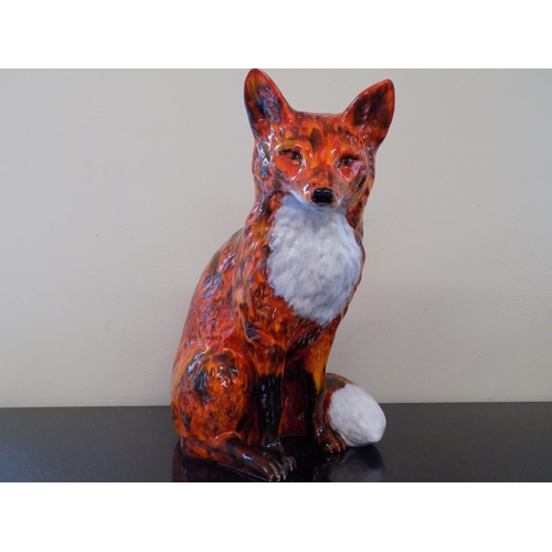 45 - Anita Harris 47cm Large Fox. Designed, Painted and Signed by Anita Harris. THIS LOT IS COLLECTION ON...