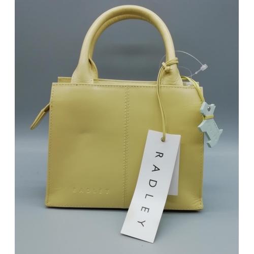 1 - Small Yellow Radley Bag, no provenance...