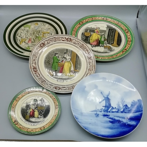 10 - Various Plates including Delft and Dickens...