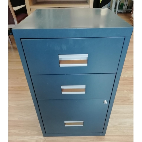 13 - 3 Drawer Metal Filing Cabinet 66 x 40 x 40. This Lot is Collection only....