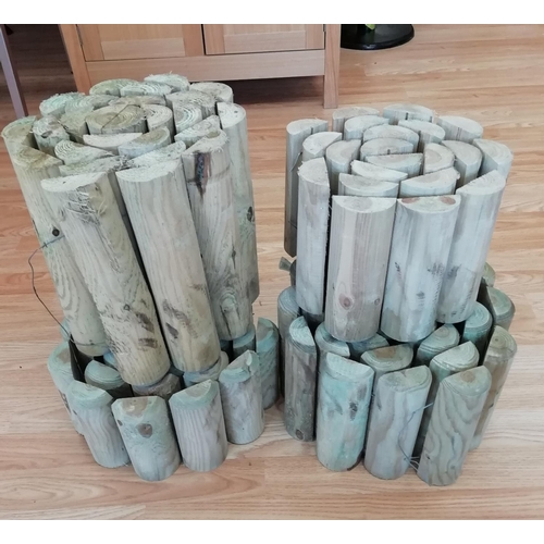 14 - 4 Rolls of Log Edging. This Item is Collection Only....