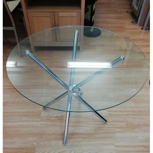 17 - Glass Top Table with Chrome Legs. This Lot is Collection only....