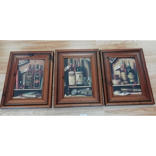 19 - 3 Framed Whiskey Pictures...