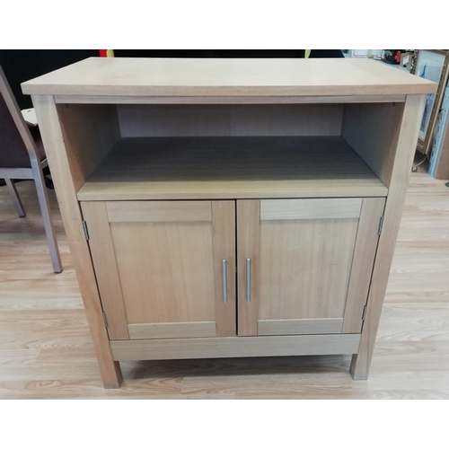 24 - Light Oak TV Cabinet/Stand, 76 x 45 x 79. This item is Collection only...