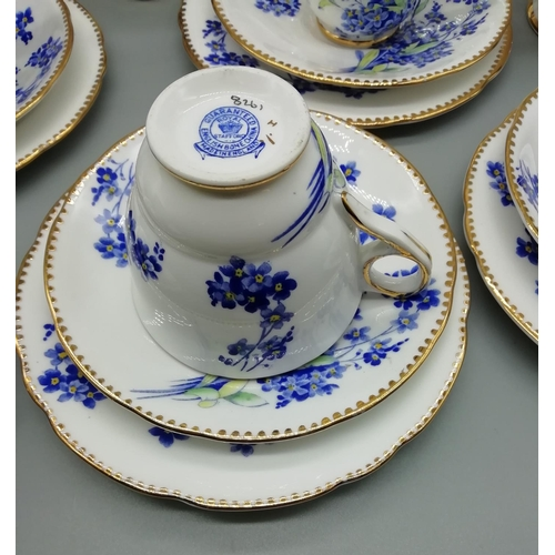 36 - 21 Piece Royal Stafford Teaset in the 'Forget-me-Not' Pattern...