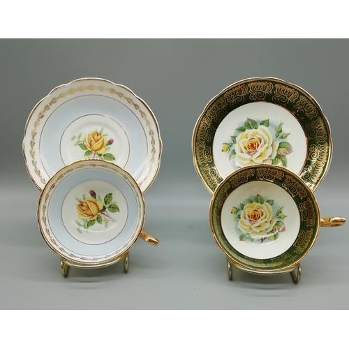 40 - Regency Cups & Saucers (2)...