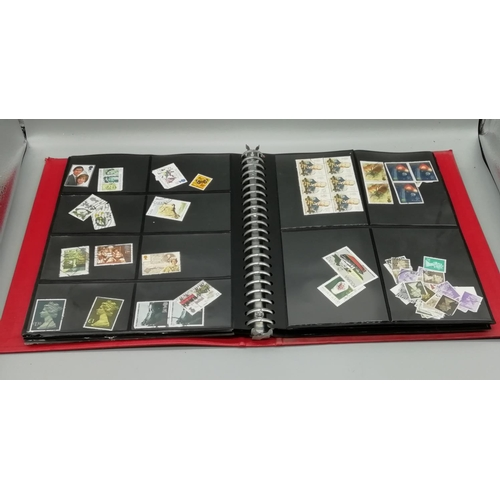 5 - Red Binder Full of Stamps...