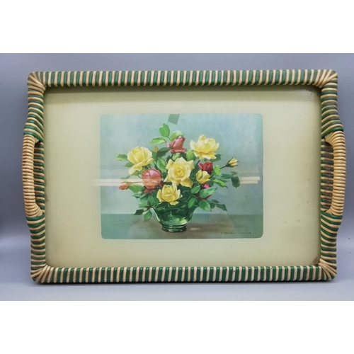 52 - Wicker Handled Flowers Tray...
