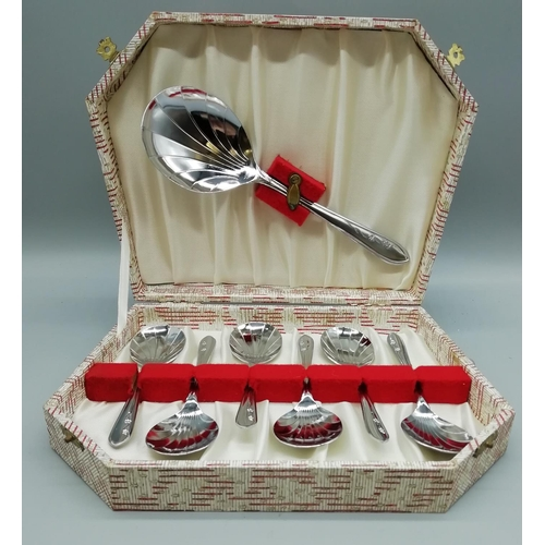 53 - Boxed Set of Fruit Spoons & Serving Spoon...